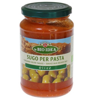 Bioidea Pastasaus olijven 340 gram | Superfoodstore.nl