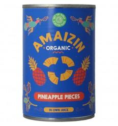 Amaizin Ananasstukjes op sap 400 gram | € 3.24 | Superfoodstore.nl