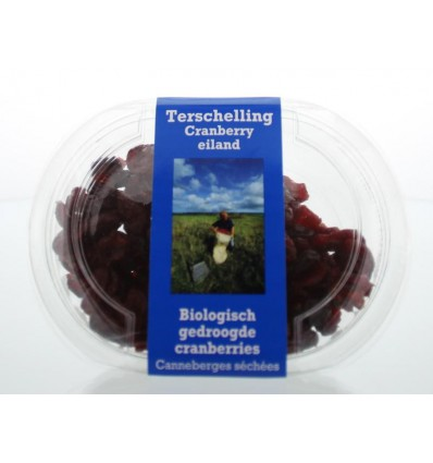 Terschellinger Cranberry gedroogd 100 gram | € 3.03 | Superfoodstore.nl