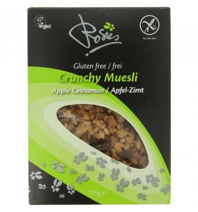 Rosies Crunchy muesli appel cinnamon 325 gram | € 3.78 | Superfoodstore.nl