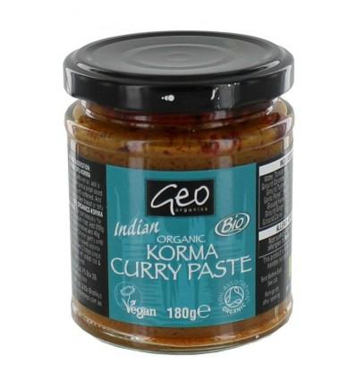 Oosterse specialiteiten Geo Organics Curry paste korma 180 gram kopen