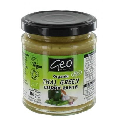 Geo Organics Curry paste thai green 180 gram | Superfoodstore.nl