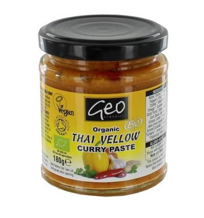 Geo Organics Curry paste thai yellow 180 gram |