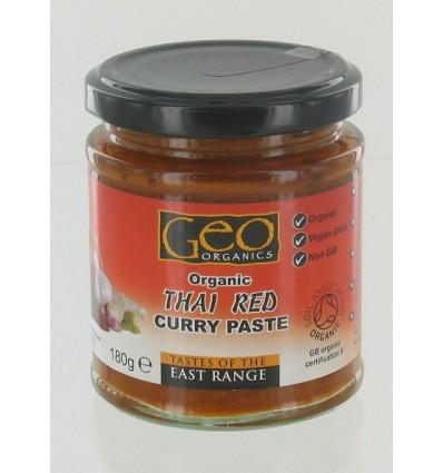 Geo Organics Curry paste thai red 180 gram