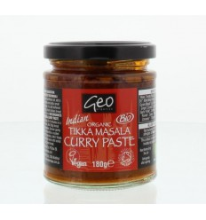Geo Organics Curry paste tikka masala 180 gram | € 3.71 | Superfoodstore.nl