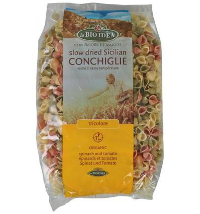 Pasta Bioidea Grote schelp tricolor 500 gram kopen