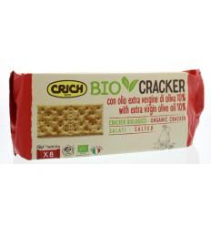 Crich Crackers olijfolie met zout rood 250 gram |