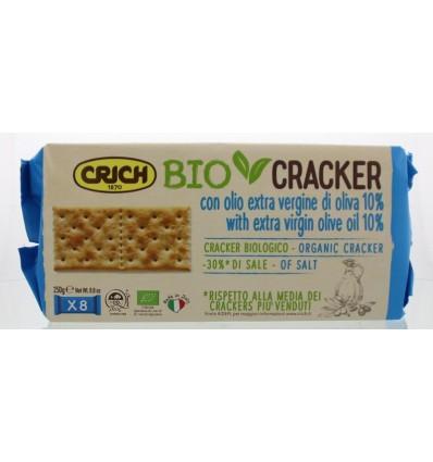 Crich Crackers olijfolie blauw 250 gram   Superfoodstore.nl