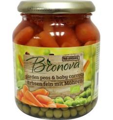 Bionova Doperwten met wortel 340 gram | Superfoodstore.nl