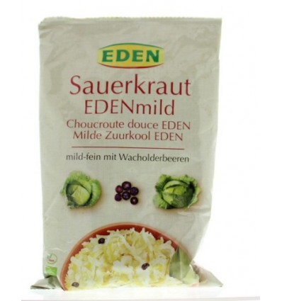 Eden Zuurkool mild (zakje) 500 gram | Superfoodstore.nl