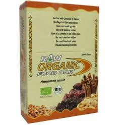 Organic Food Bar Bar kaneel rozijn 50 gram 12 stuks |