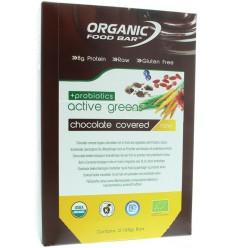 Organic Food Bar Bar active green covered probiotica 68 gram 12