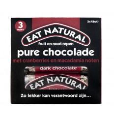 Eat Natural Pure chocolade cranberry macadamia 45 gram 3 stuks