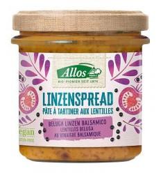 Allos Linzenspread beluga balsamico 140 gram | Superfoodstore.nl