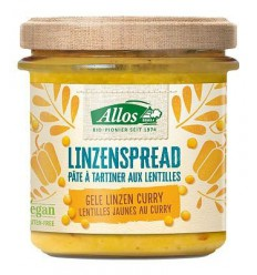 Allos Linzenspread gele curry 140 gram | Superfoodstore.nl