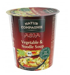 Natur Compagnie Cupnoodles Asia vegetable 55 gram | € 1.39 | Superfoodstore.nl
