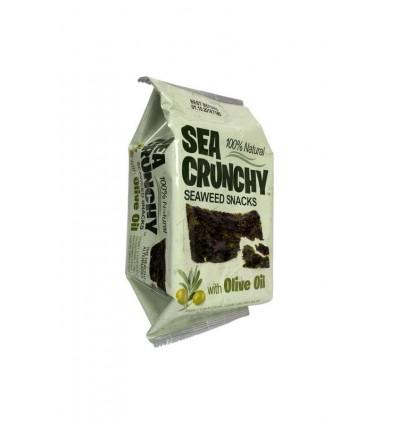 Oosterse specialiteiten Sea Crunchy Nori zeewier snack met olijf olie 10 gram kopen