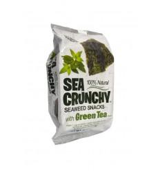 Sea Crunchy Nori zeewier snacks groene thee 10 gram |