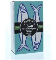 Fish 4 Ever Schotse makreel bronwater 125 gram  