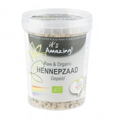 It'S Amazing Raw & organic hennepzaad gepeld 250 gram |