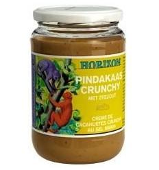 Horizon Pindakaas crunchy met zeezout eko 650 gram |
