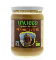 Unueco Pindakaas bio fair trade 500 gram | Superfoodstore.nl