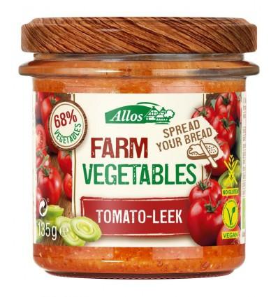 Broodbeleg Allos Farm vegetables tomaat & prei 135 gram kopen