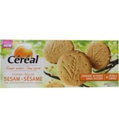 Cereal Sesam vanille koek 132 gram | Superfoodstore.nl