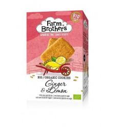 Farm Brothers Gember & citroen koekjes 150 gram | € 2.79 | Superfoodstore.nl