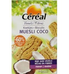 Cereal Koekjes muesli/cocos 200 gram | Superfoodstore.nl