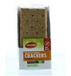 Liberaire Crackers naturel 250 gram   Superfoodstore.nl