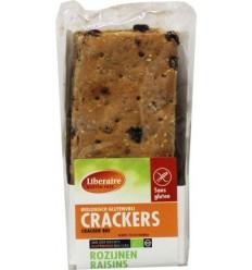 Liberaire Crackers rozijnen 250 gram   Superfoodstore.nl