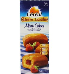 Cereal Aardbei cakeje glutenvrij 210 gram | Superfoodstore.nl