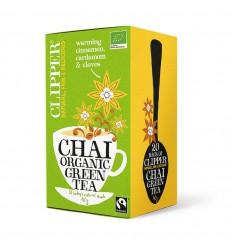 Clipper Chai green tea bio 20 zakjes | Superfoodstore.nl