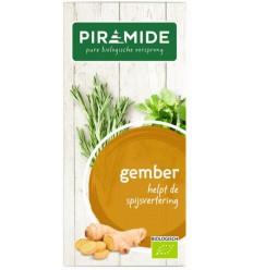 Piramide Gember thee eko 20 zakjes | Superfoodstore.nl