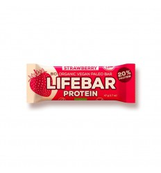 Lifefood Lifebar aardbei 47 gram | Superfoodstore.nl