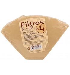 Euro Nat Koffie filters no 4 60 stuks | Superfoodstore.nl