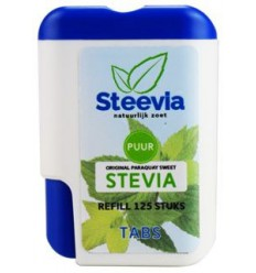 Steevia Stevia tablet dispenser 125 stuks | € 4.93 | Superfoodstore.nl