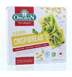 Orgran Corn crispbread 125 gram | € 2.78 | Superfoodstore.nl