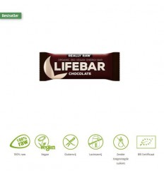 Lifefood Lifebar chocolade 47 gram   Superfoodstore.nl