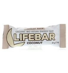 Lifefood Lifebar kokos 47 gram   Superfoodstore.nl