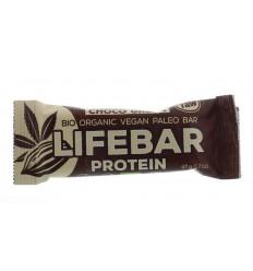 Lifefood Lifebar plus choco green protein bio 47 gram | € 1.80 | Superfoodstore.nl