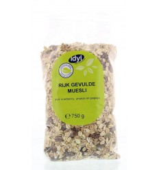 Idyl Muesli rijk gevuld 750 gram | Superfoodstore.nl
