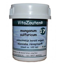 Celzouten Vitazouten Manganum sulfuricum VitaZout Nr. 17 120