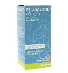 Fluimucil drank forte 4% 200 ml | Superfoodstore.nl