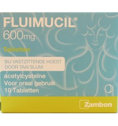 Fluimucil 600 mg 10 tabletten | Superfoodstore.nl