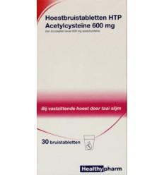Healthypharm Acetylcysteine 600 mg HTP 30 bruistabletten |