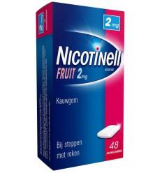 Stoppen met roken Nicotinell Kauwgom fruit 2 mg 48 stuks kopen