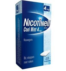 Stoppen met roken Nicotinell Kauwgom cool mint 4 mg 48 stuks