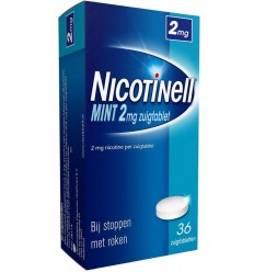 Nicotinell Mint 2 mg 36 zuigtabletten | Superfoodstore.nl